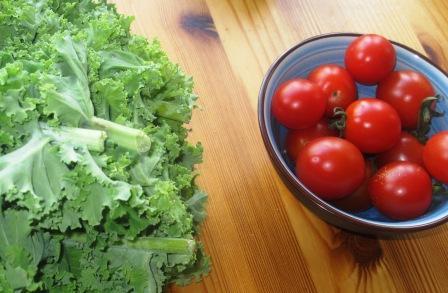 Tomater och grönkål till bloggen