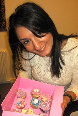 Rozelin på cupcakeskurs