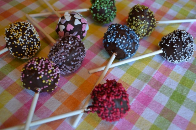 Chokladhavrecakepops
