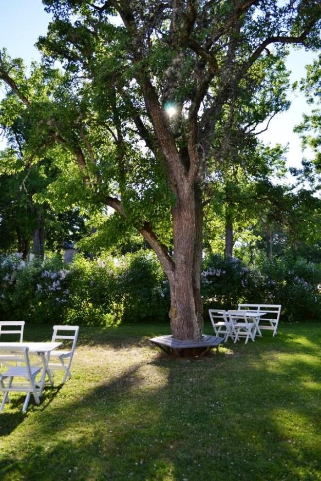 Forshems gästgiveri, trädgården. Livsaptit