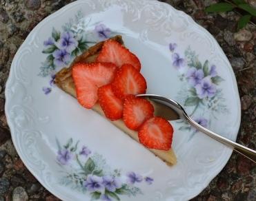 Citroncashewkaka med jordgubbar, ensam bit, Livsaptit