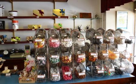 Elit choklad, gammeldags godisburkar, Karlskrona, Livsaptit