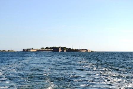 Kungsholms fort, utsikt från båt, Karlskrona, Livsaptit
