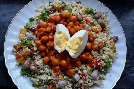 Marockansk vegetarisk sallad, Matiga sallader-kurs, Livsaptit