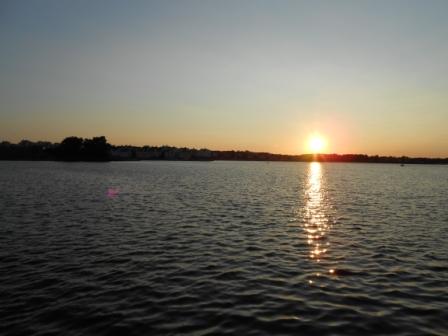Solnedgång över Borgmästarefjärden, Karlskrona, Livsaptit