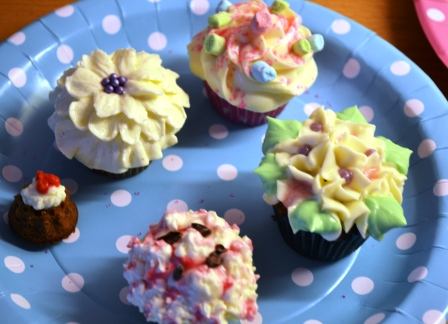 Blommiga cupcakes, Livsaptit