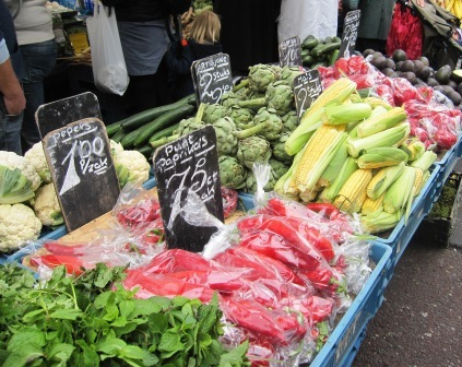 Frukt och grönt, Matmarknad, Amsterdam, Livsaptit