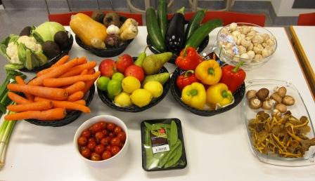 Grönsaksbord, matiga sallader, kurs, Livsaptit