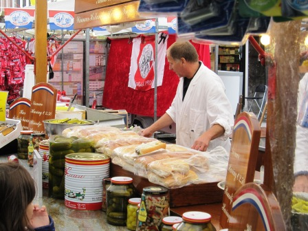 Inlagd sill i bröd, Matmarknad, Amsterdam, Livsaptit