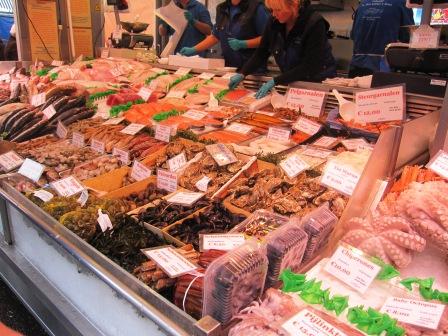 Skaldjur, Matmarknad, Amsterdam, Livsaptit
