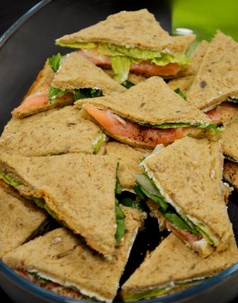 Sandwiches med gravad lax, Afternoon teakurs, Medborgarskolan, Livsaptit