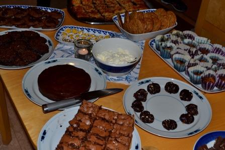 Allergivänliga kokostoscabrownies, cookies, blondiemuffins med blåbär och pepparkaksfudgekladdkaka, Kurs, Chocoholic, Livsaptit