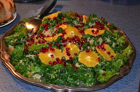 Grönkålssallad med apelsin, granatäpple och kryddig quinoa, Missmeistersmat, Matbloggsträff, Livsaptit