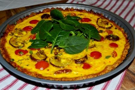 Tomattarte med saffran, Livsaptit, Recept
