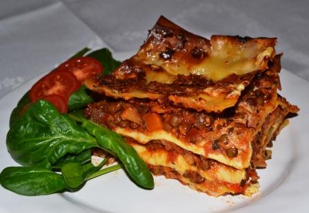 Vegetarisk lasagne, Recept, Livsaptit