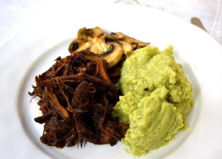 Ljus middag, Pulled pork, blomkåls- och broccolimos, Recept, Livsaptit