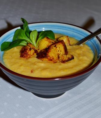 Stående, majssoppa med kokosmjölk och lime, Recept, Livsaptit
