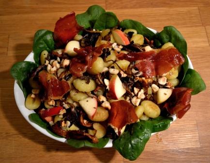 Gnocchisallad ovanifrån, Livsaptit, Recept