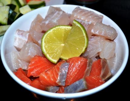 Lax och vit fisk, Recept, Fisksoppa, Thai, Livsaptit