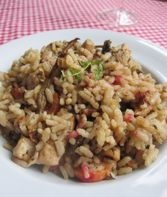 Svamprisotto med kyckling, resept, Livsaptit