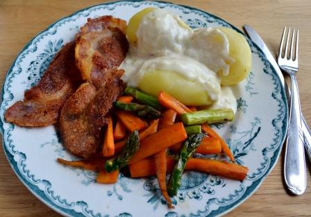 Fläsk med potatis, löksås och primörer, 2, Recept, Livsaptit