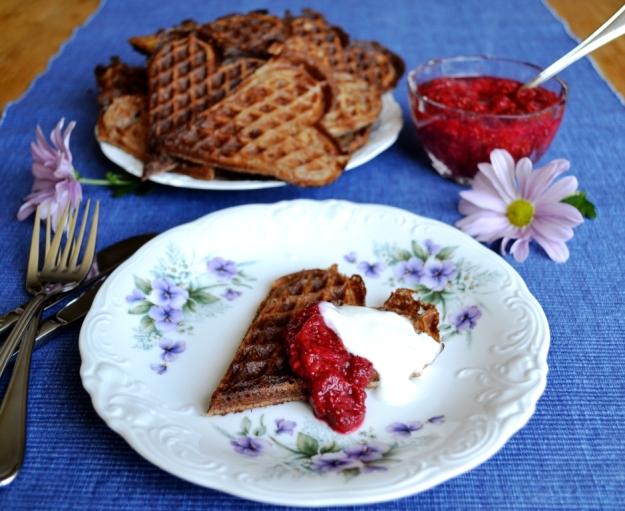 Glutenfria äggvåfflor med teff, Livsaptit, Recept, Chiasylt