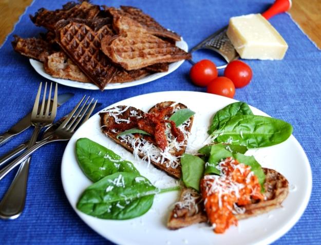 Glutenfria våfflor med teff, Livsaptit, Recept, Matiga tillbehör