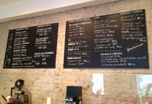 Utbud, koppning, Kale'i Kaffebar,