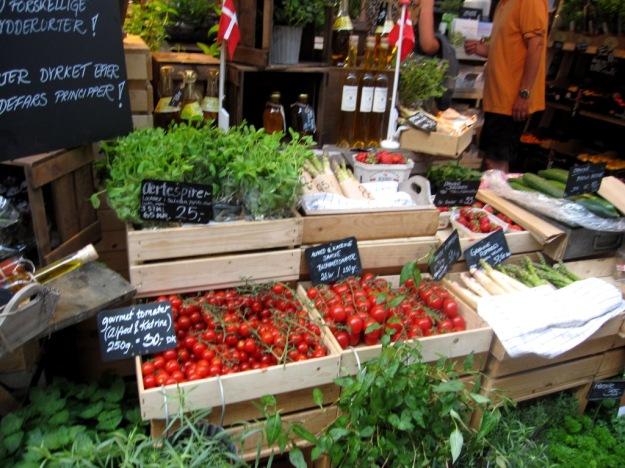 Örter, frukt och grönt, Torvehallerne, Köpenhamn, Reseguide, Livsaptit