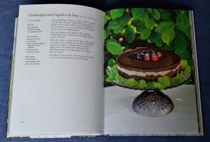 Chokladpaj med ingefära & lime, uppslag ur Maten är min medicin av Janesh Vaidya, recension av Livsaptit