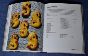 Lussebullar, exempel på ett uppslag, Recension av Bröd och kakor, baka utan gluten av Mekto Ganic, recension av Livsaptit