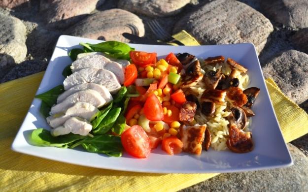 Rimmad kokt kyckling med sommarsallad, Recept, Livsaptit