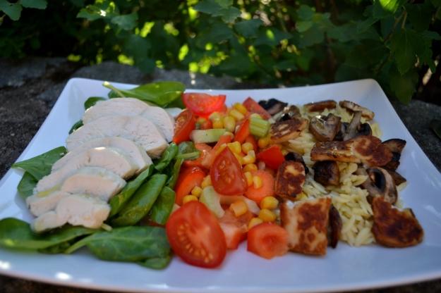 Sommarsallad med rimmad, kokt kyckling, Recept, Livsaptit