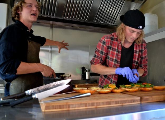 Hamburgare på gång, Two buns & meat, Foodtruck, Göteborg, Matvandring, Bloggforum 2014, Livsaptit