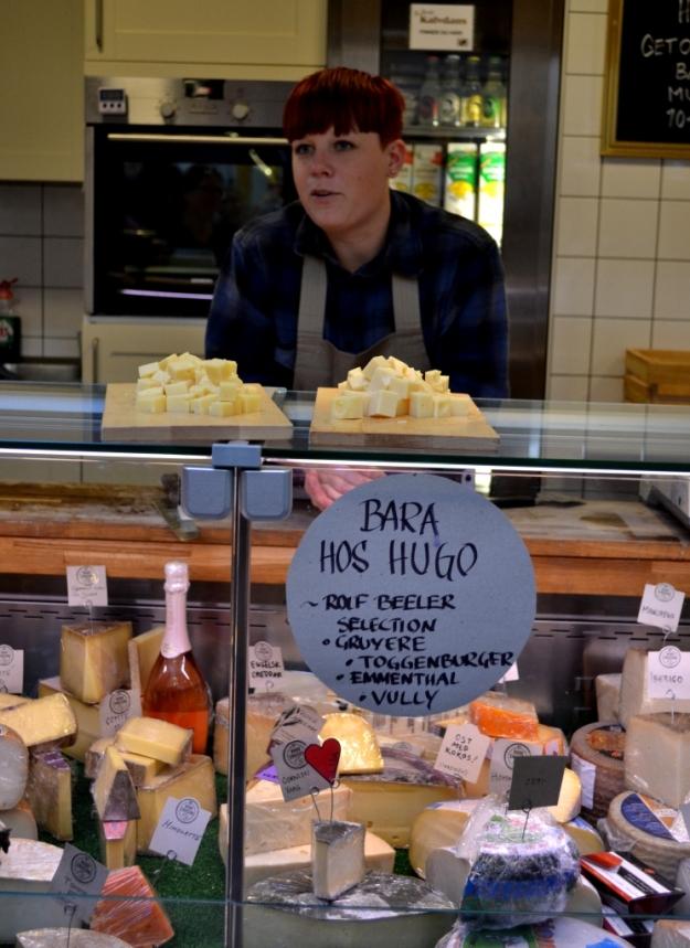 Provsmakning Hugo Ericson ost i Stora Saluhallen, Göteborg, Matvandring, Bloggforum 2014, Livsaptit
