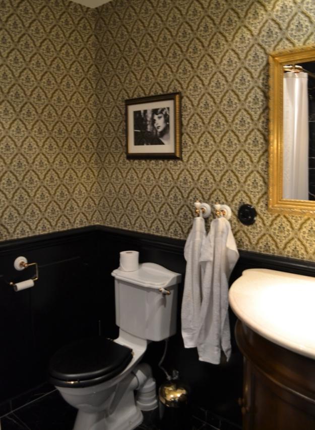 Toalett på hotellrummet, detaljrikedom! Hotel Pigalle, Bloggforum, Livsaptit