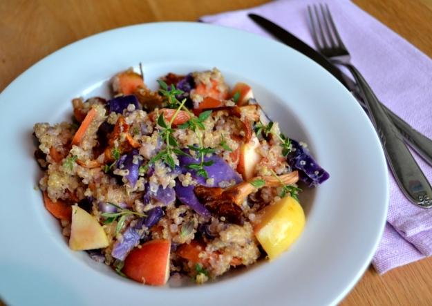 Vegetariskt, Middag, Krämig quinoa med höstgrönsaker och äpple, Recept, Livsaptit