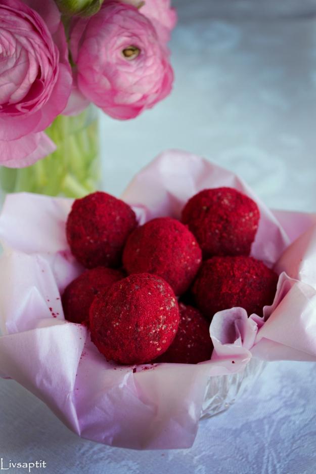 Hallonhavrebollar, Smarta sötsaker, Glutenfritt, Mjölkfritt, Recept, Livsaptit