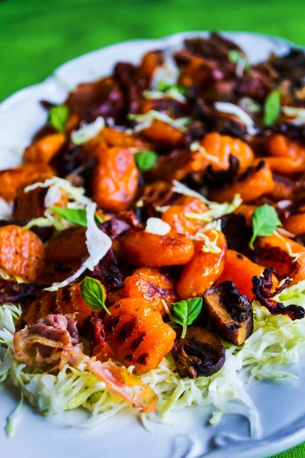 Pumpagnocchi med färsk vitkålssallad med soltorkad tomat, Recept, Livsaptit, Glutenfritt (2)