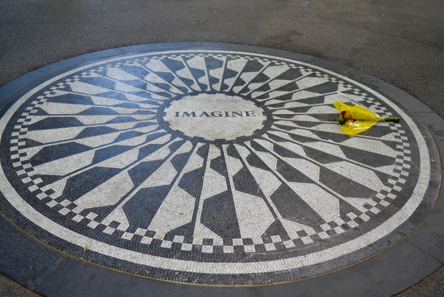 Imagine, Strawberry Fields, John Lennons minnesmärke, New York, USA, Livsaptit