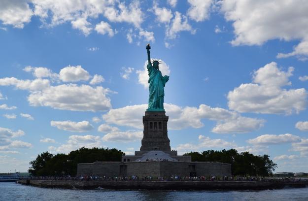 Frihetsgudinnan rakt framifrån, New York, Livsaptit