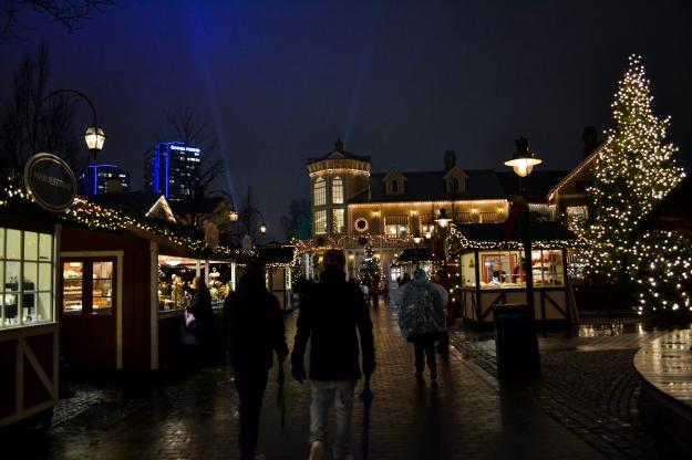 Jul på Liseberg, bloggevent, smakäventyr, mingel bland bodarna liggande format, lugn kväll, Livsaptit
