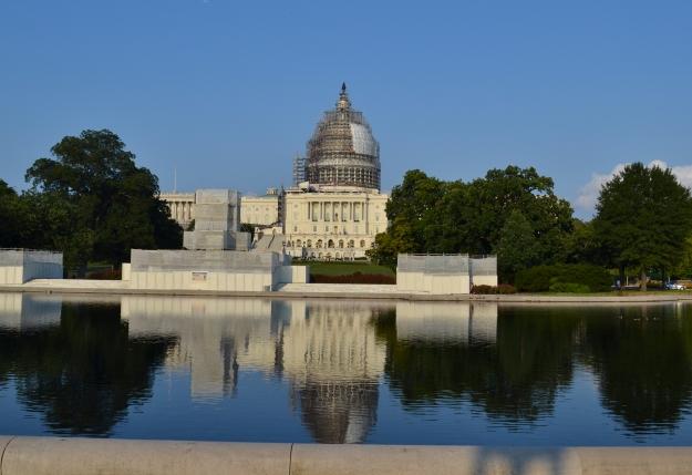 Capitolium under renovering, snopet och trist, Washington D. C., 2015, Resedagbok, USA, Livsaptit