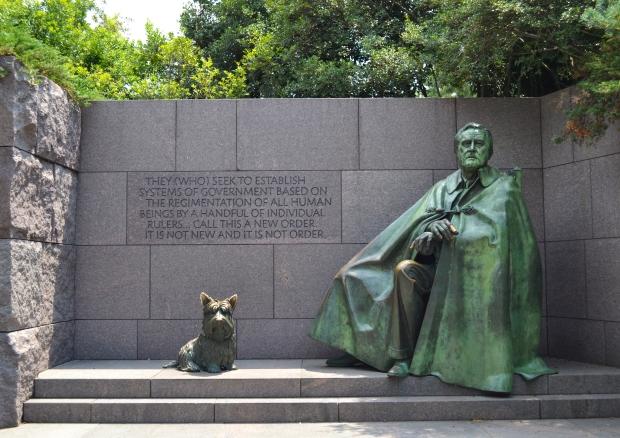 Franklin D. Roosevelt  Memorial, Washington D. C., 2015, Resedagbok, USA, Livsaptit