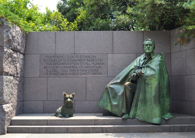 Franklin D. Roosevelt  Memorial, Washington D. C., 2015, Resedagbok, USA, Livsaptit