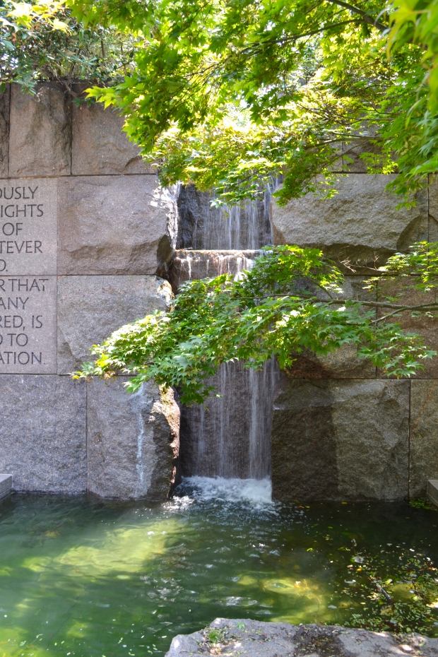 Franklin D. Roosevelt  Memorial,vattenfall, Washington D. C., 2015, Resedagbok, USA, Livsaptit