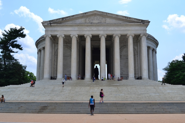 Jefferson Memorial framifrån, Washington D. C., 2015, Resedagbok, USA, Livsaptit