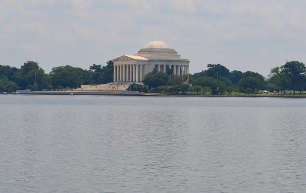 Jefferson Memorial vid Tidal Basin,, Washington D. C., 2015, Resedagbok, USA, Livsaptit