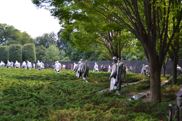 Korean War Veterans Memorial, minnesdag, Washington D. C., Resedagbok, USA, Livsaptit