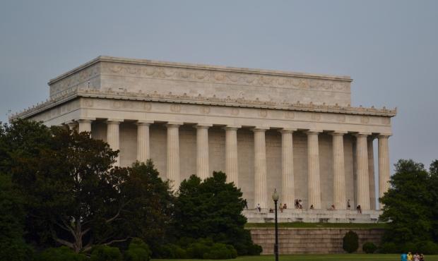Lincoln Memorial från baksidan, Washington D. C., Resedagbok, USA, 2015, Livsaptit